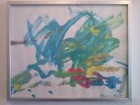 Oeuvre (fin 2014) de ma petite-fille de deux ans.. relativisons ! ;-)