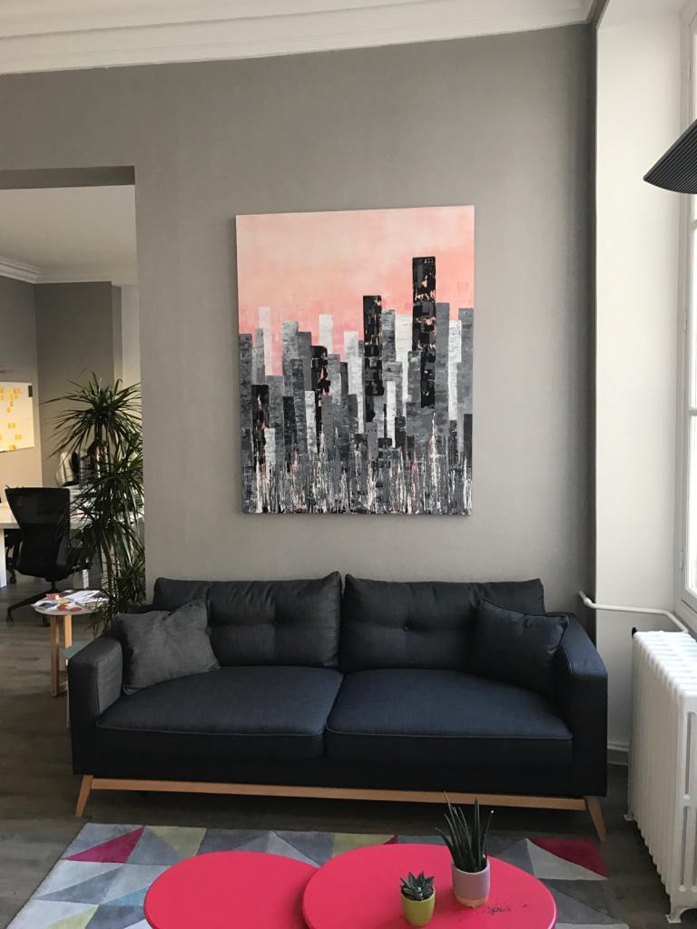 Emergences (in-situ) acrylique sur medium 146x114