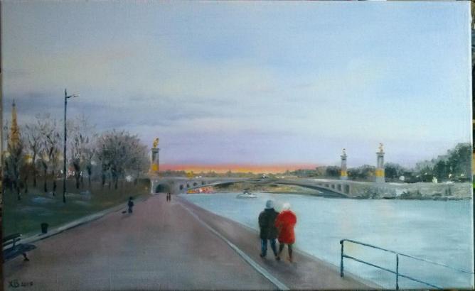 Soir d'hiver, Pont Alexandre III