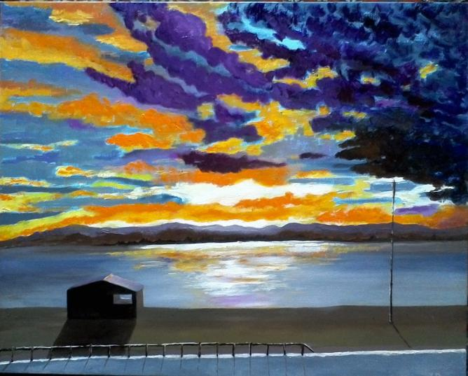 Soir sur le lac marin -4